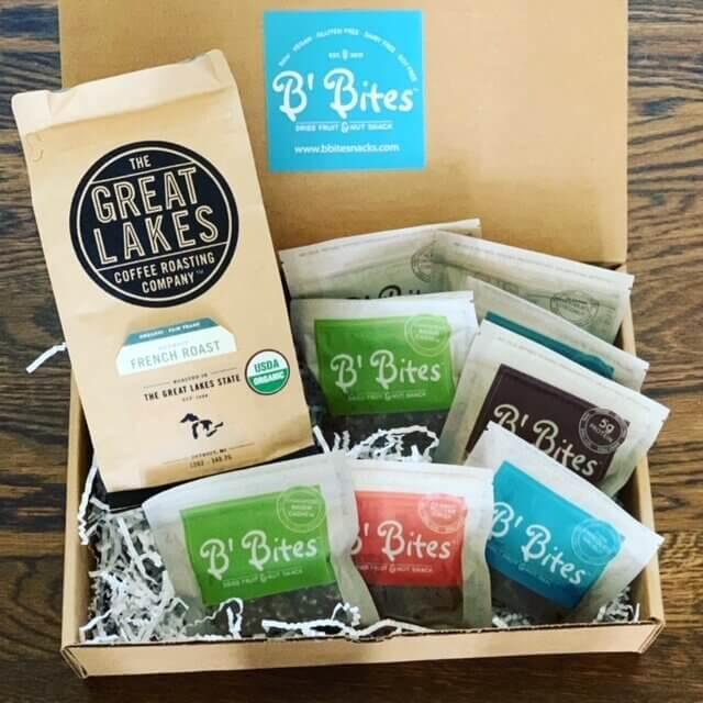 Go to Coffee + B' Bites Vegan Snack Box